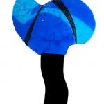 blå form